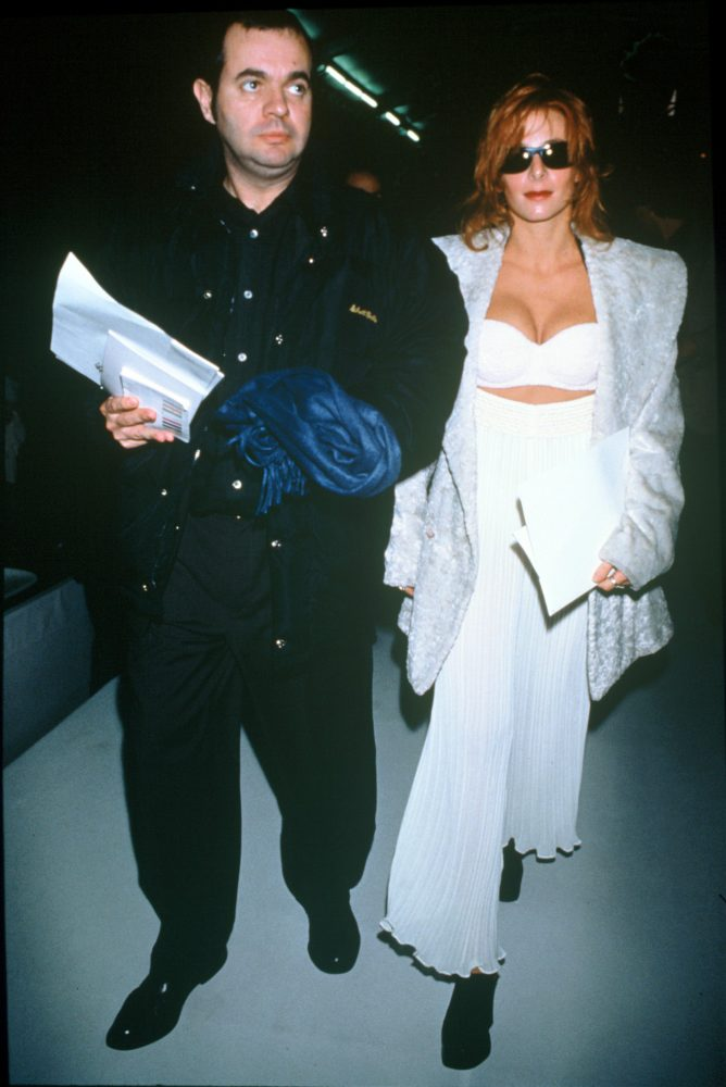 Thierry Suc et Mylène Farmer - Défilé Issey Miyake - 1993 - Photographe : BERTRAND RINDOFF PETROFF / AGENCE ANGELI