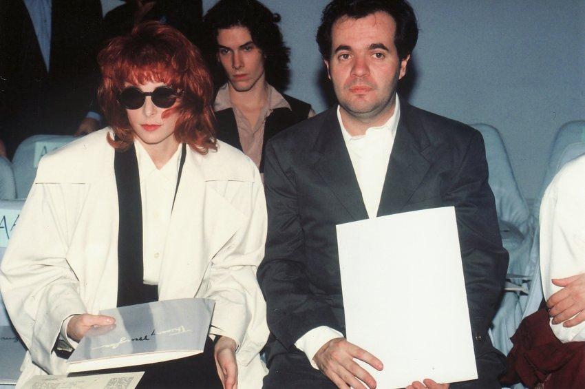 Mylène Farmer et Thierry Suc - Défilé Thierry Mugler - 1990