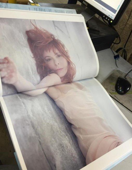 Mylène Farmer - Photo de Sylvie Lancrenon - Extrait du livre Fragile