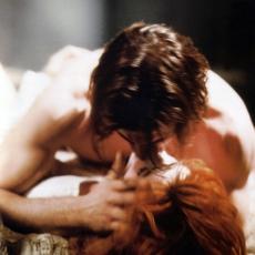 Jeff Dahlgren et Mylène Farmer - Tournage du film Giorgino - Photographe Etienne George - 1993