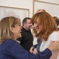 Sylvie Lancrenon et Mylène Farmer - Vernissage exposition Fragile - 04 juin 2015 - Paris