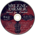 Mylène Farmer Avant que l'ombre... CD Europe CD Recto