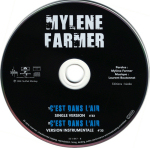 Mylène Farmer C'est dans l'air CD Single France