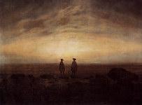 Caspar Friedrich - Two Men by the Sea - 1817