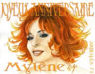 Dessin de Mylène Farmer par CeGe45