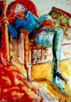 Dessin de Mylène Farmer par Marie-Pierre Besson