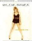 Mylène Farmer Anamorphosée Merchandising Calendrier 1996