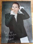 Mylène Farmer Merchandising Timeless 2013 Poster dédicacé