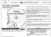 Mylène Farmer Point de Suture Bon de précommande Vinyle