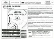 Mylène Farmer Point de Suture Bon de précommande CD & Collector