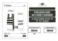 Mylène Farmer Point de Suture Bon de précommande PLV Box
