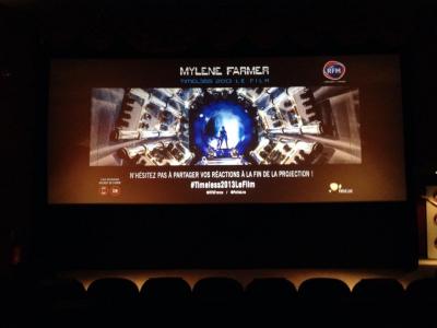 Mylène Farmer Timeless 2013 Projection Privée