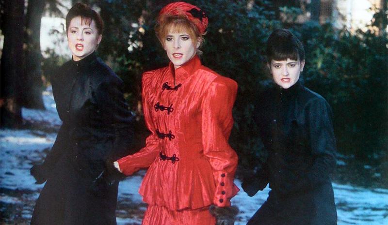 Mylène Farmer et ses danseuses Sophie Tellier et Dominique Martinelli - Emarquement Immédiat - Janvier 1987