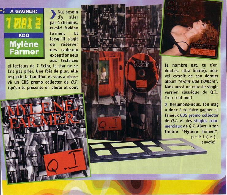 Mylène Farmer Presse 7 Extra Août 2005