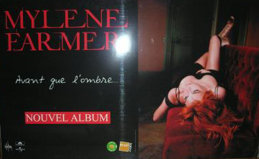Mylène Farmer Avant que l'ombre... PLV Fnac