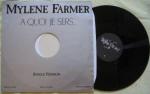 Mylène Farmer A quoi je sers... Maxi 45 Tours Promo France
