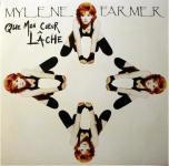 Mylène Farmer Que mon coeur lâche 45 Tours France Pochette recto