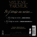 Mylène Farmer Si j'avais au moins... CD Single France