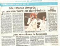 Mylène Farmer Presse Le Parisien Aujourd'hui en France 18 janvier 2009