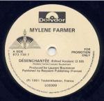 Mylène Farmer Désenchantée 45 Tours Promo Grande-Bretagne