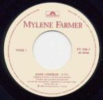 Mylène Farmer Sans Logique 45 tours Canada