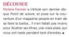 Mylène Farmer Presse Préférences mag Septembre 2008