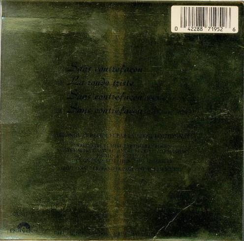 CD Maxi Promo Pochette Verso
