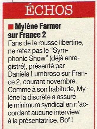 Mylène Farmer Télé Star Octobre 2005