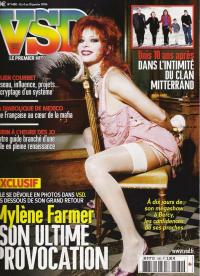 Mylène Farmer VSD du 04 au 10 janvier 2006
