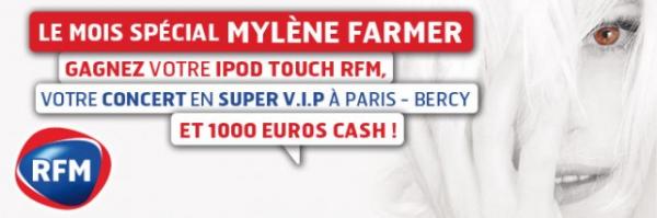 Mois spécial Mylène Farmer RFM