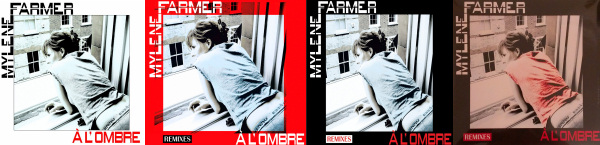 Mylène Farmer À l'ombre Supports commerce