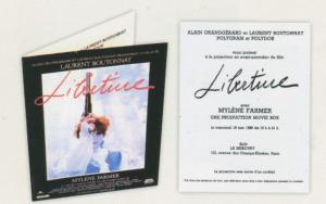 Invitation avant première clip de Mylène Farmer Libertine