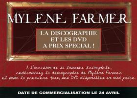 Mylène Farmer Plan Promo Opération Mide Price 24 avril 2009