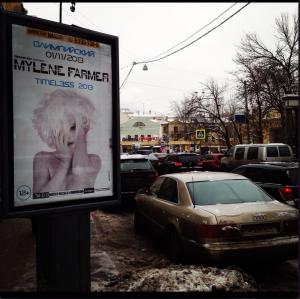 Mylène Farmer Timeless 2013 Affichage Moscou