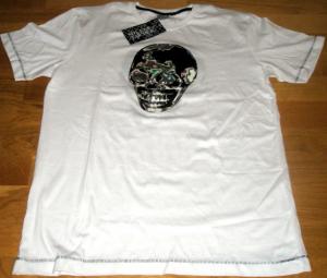 Tour 2009 - T-Shirt Skull Blanc Homme