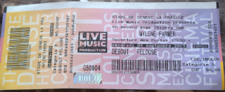 Mylène Farmer Tour 2009 Ticket