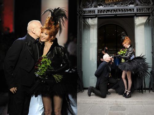 Jean-Paul Gaultier et Mylène Farmer