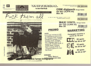 Fuck them all - Bon de précommande (CD Maxi & Maxi Vinyle)