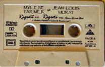 Mylène Farmer et Jean-Louis Murat - Regrets - Cassette Single Blanche - Label