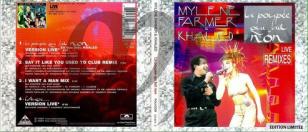 Mylène Farmer & Khaled La poupée qui fait non Live CD Maxi Digipak France