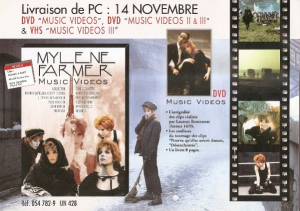 Music Videos II & III - Plan Promo DVD France N°2