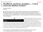 Mylène Farmer Point de Suture Critique JDD.fr 25 août 2008