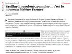 Mylène Farmer Point de Suture Critique JDD.fr 25 août 2008