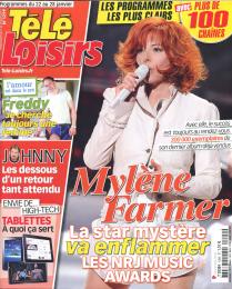 Mylène Farmer Presse Télé Loisirs Programmes du 22 au 28 janvier 2011