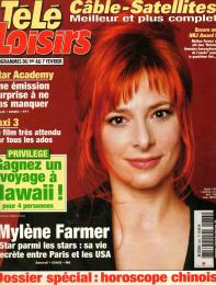 Mylène Farmer Presse Télé Loisirs Programmes du 01er au 07 février 2003