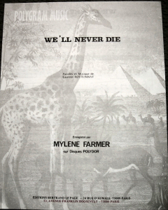 We'll never die - Partition Editions dites Girafe