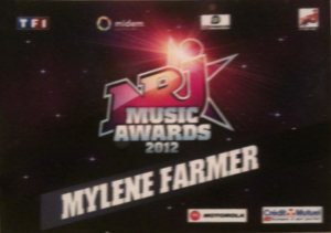 Mylène Farmer NRJ Music Awards 2012