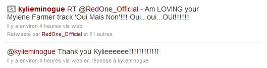 RedOne Kylie Minogue Twitter