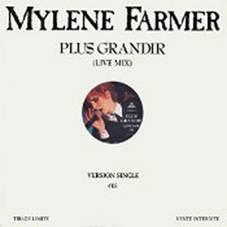 Mylène Farmer Plus Grandir Live Maxi 45 Tours Promo France