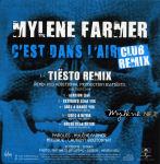 Mylène Farmer C'est dans l'air Club Remix Tiësto CD Promo